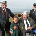 Reay Clarke with fellow veterans Geoff Holmes and Calum Lamont
