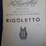Programme from a performance of Rigoletto