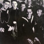 AB Bill Llewellyn (back row 3rd from the right) with the some of the crew of HMS ZAMBESI.