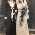 AB Bill Llewellyn and his wife Brenda on their wedding day in 1945.