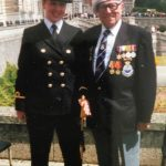 Lauren and Bill at Lauren's Passing out Parade in 2002.