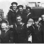 Bill Grier with some shipmates in Copenhagen