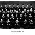 HMS Drake, Devonport 1940. Enos Fellows LH 3rd row from the front