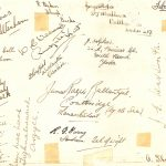 Signatures on the reverse of the Anson Image