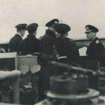 King George VI aboard HMS Milne