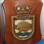 HMS Ashanti original Crest Shield Plaque