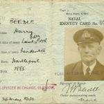 Harry Beedle Naval Identity Card