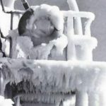 Icy conditions on ship