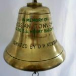 Ship's bell off the SS Henry Bacon, on display now at Pool House, Poolewe.