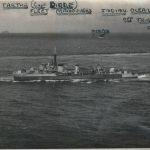 The ship's company on HMS Tartar (1945). The captain was Basil Jones