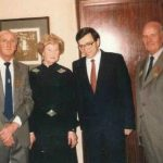 Jules (on the left) with a russian lady, the Russian Ambassador and another gentleman who was recieving a medal (1992)