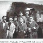 Leslie Eckert on board HMS Ulster Queen