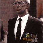 Leonard wearing his medals