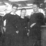 Murray with shipmates