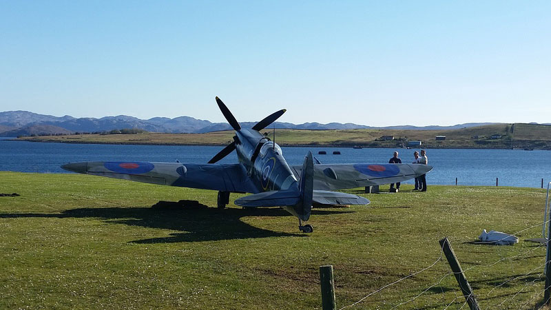 Replica-Spitfire-at-our-Loch-Ewe-75-event-in-2017