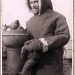 Sub Lt F R Johnson in Arctic clothing