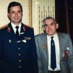 Receiving the Russian commemorative medal in June 1987