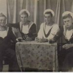Taken at a studio in Alexandria to commemorate VJ Day, Thomas is the second from the left.