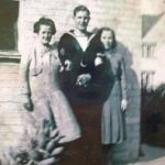 Cyril with his mother Lois and wife Gladys