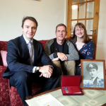 Derek's Ushakov Medal was awarded posthumously in 2015. It was presented to Kevin Jones (son) and Sharon Knapp (daughter)