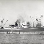 The Empire Tide now known as Thirlby 1945 – 1956 owned by Ropner Shipping, Hartlepool.