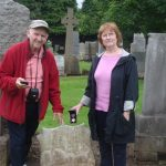 At the grave of Andrew Tully