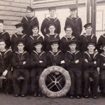 HMS Collingwood - Frank is on the front row furthest right