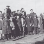 Murmansk or Archangel - these people helped unload the goods