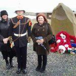 Callum McKessock Gordon, bugler at the 70th Anniversary for Dervish, Loch Ewe