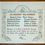 A tribute to the lost bandsman of HMS Trinidad in St Werburgh Parish Church,Wembury, Devon.