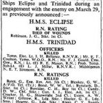 The Times Roll of honour April 1942