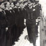 George VI inspects the fleet