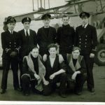 Navy flyers; PJ Sherrard, B. Angell 'Ange', J Taylor and P W Sewell (Sandy).