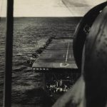 Approaching the deck of HMS Vindex