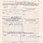 Harry's Certificate of Service