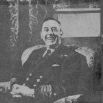 Contemporary Newspaper cutting of Captain D K Bain of HMS Norfolk, December 1943